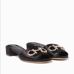 4802e65f6a10 Salvatore Ferragamo Shoes - New Salvatore Ferragamo Lampio Satin Slides